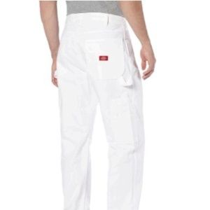 NEW Relaxed fit white dickies utility  pant jean